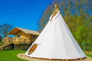 Kleine camping Gelderland met Tipi tent