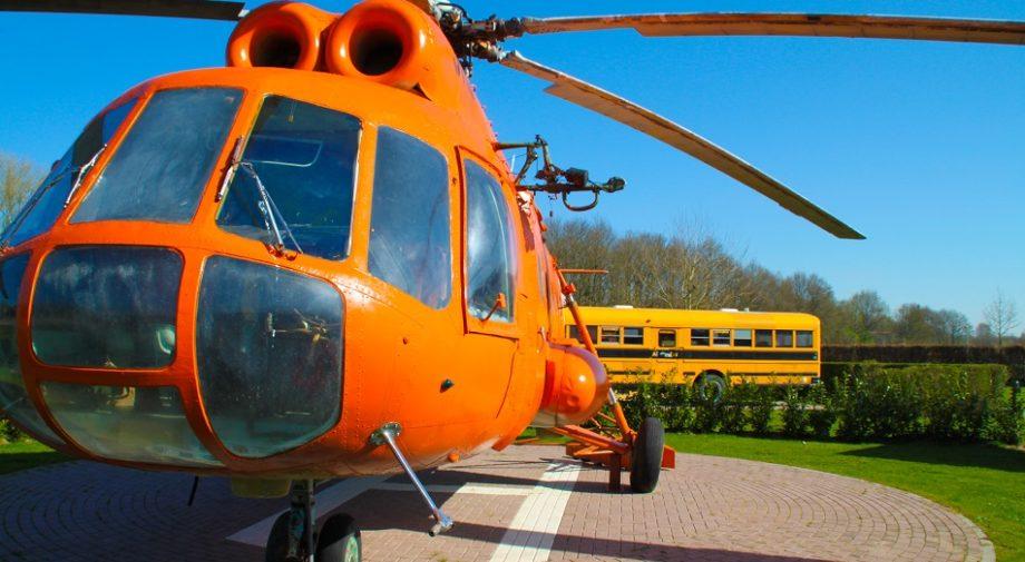 Helikopter voorkant dromenland